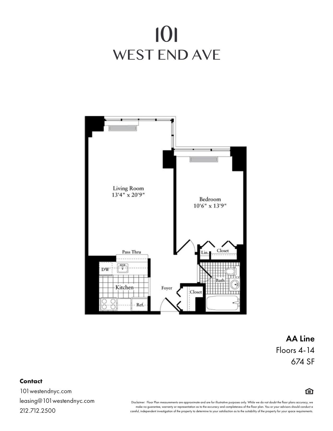 Floor plan for 5AA
