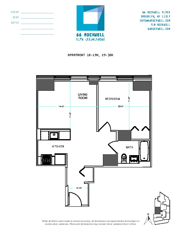 Floor plan for 19H