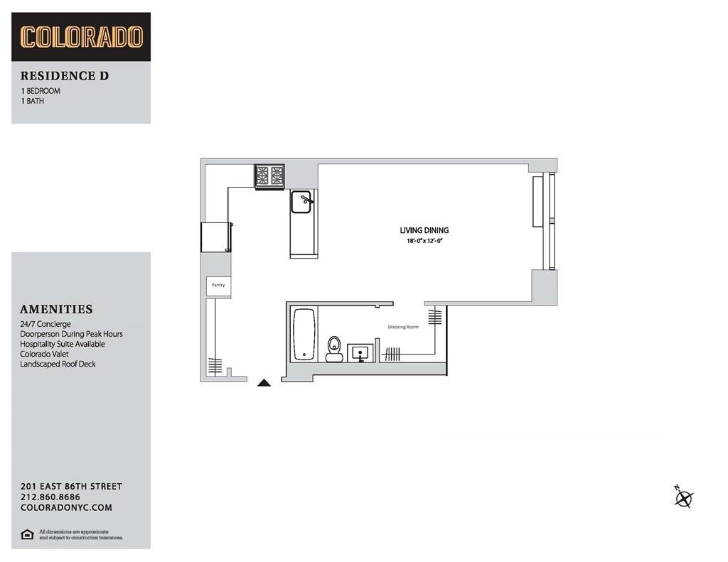 Floor plan for 13-D
