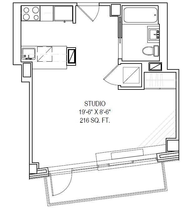 Floor plan for 7F