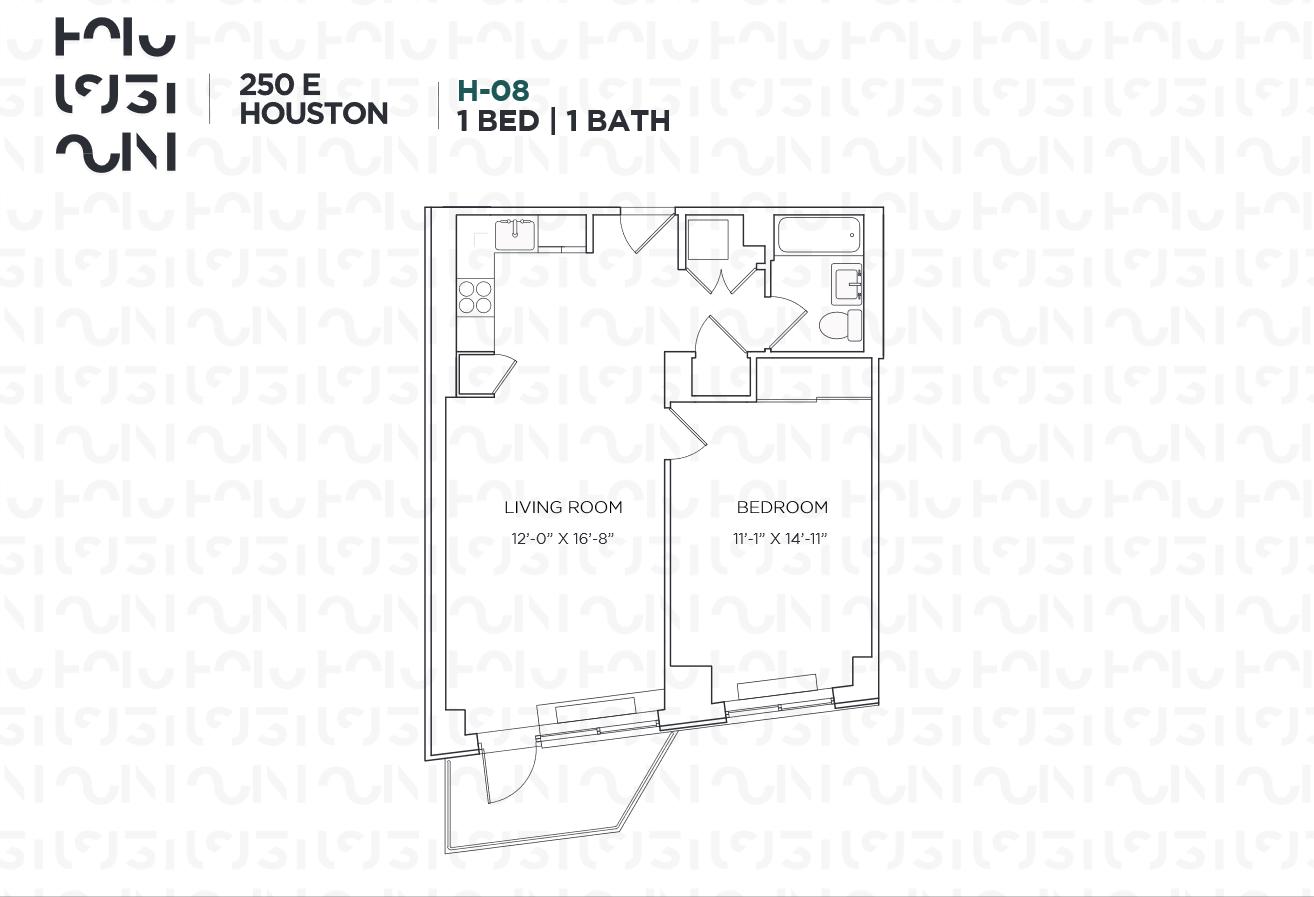 Floor plan for 6H