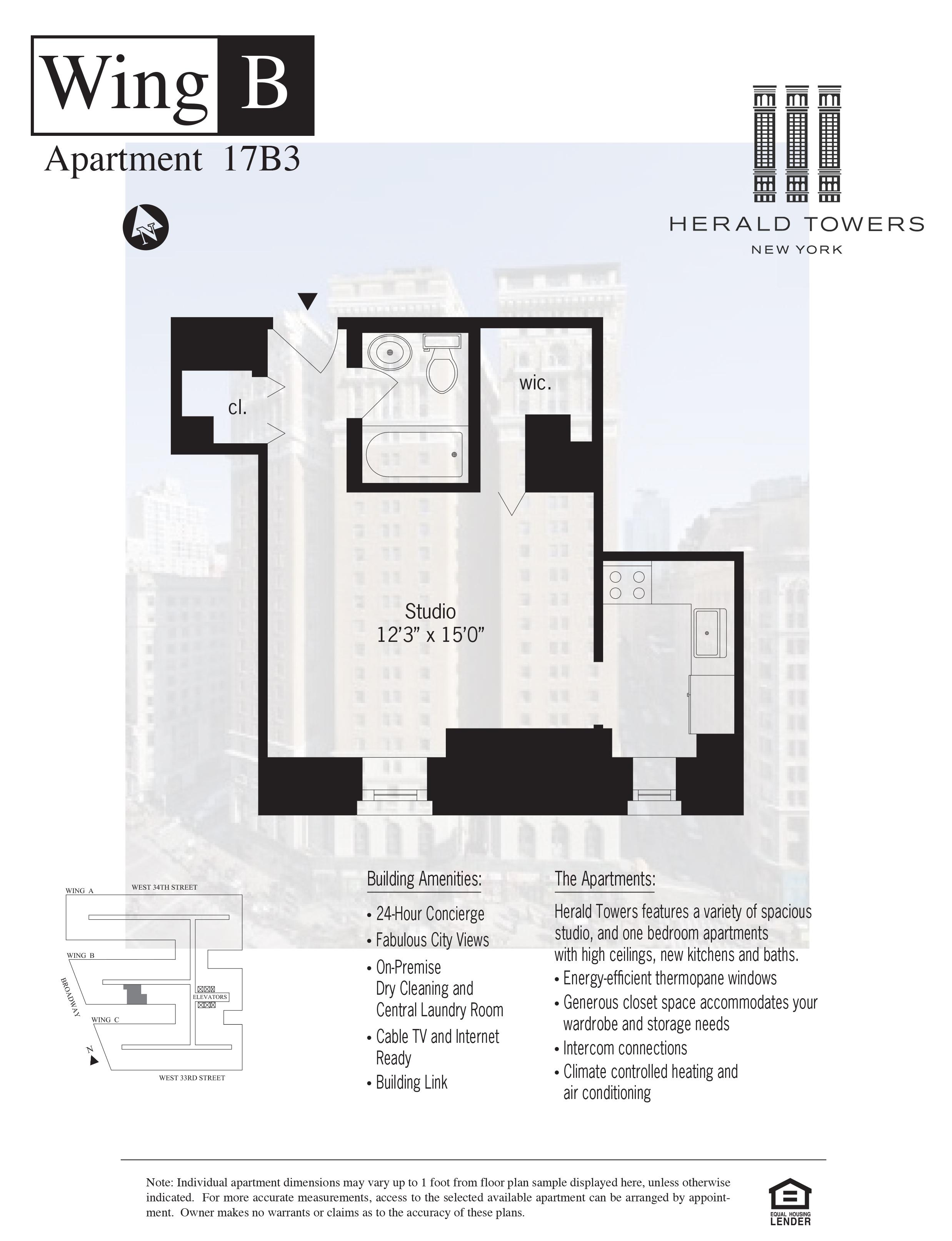 Floor plan for 17B03