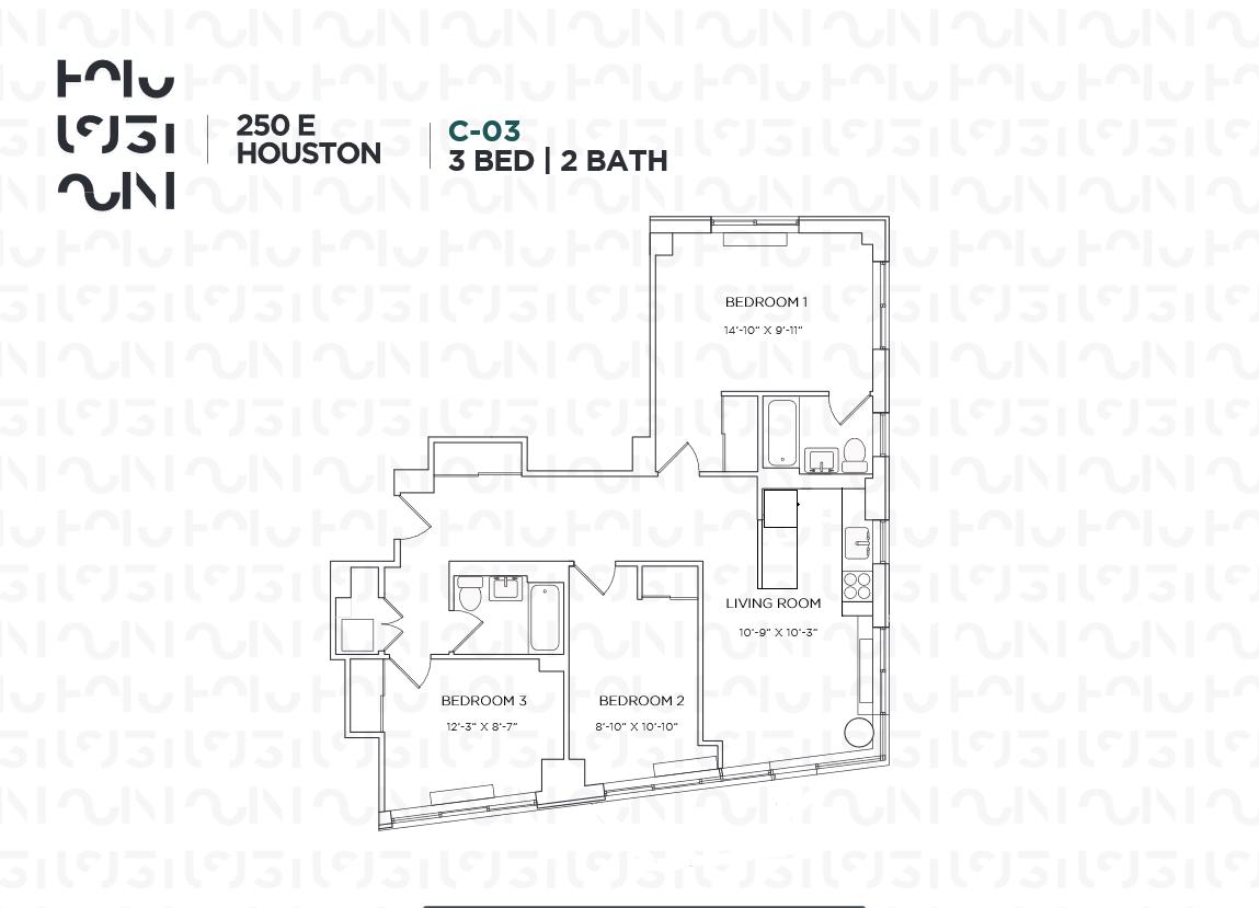 Floor plan for 3C
