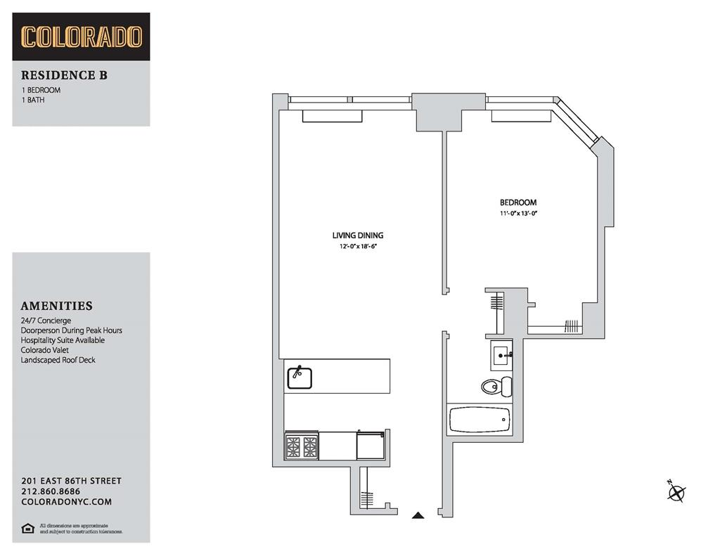 Floor plan for 9-B