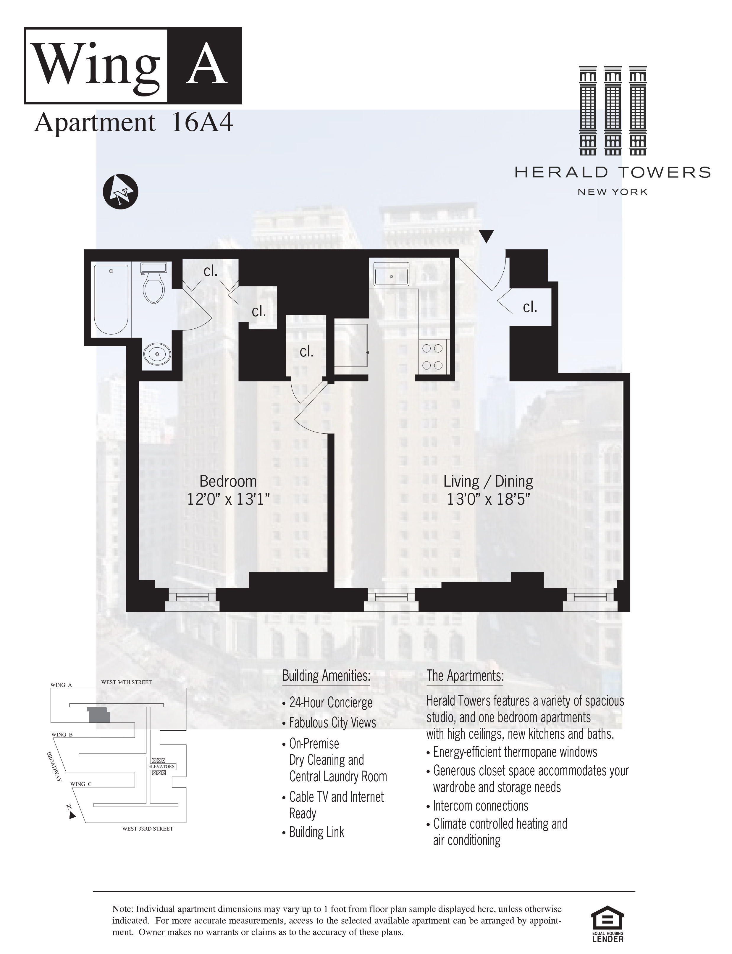 Floor plan for 16A04