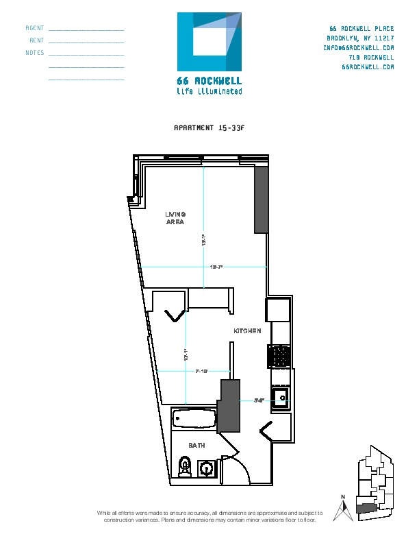 Floor plan for 33F
