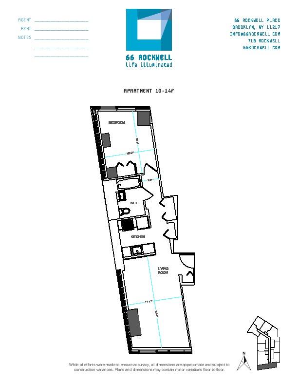 Floor plan for 14F