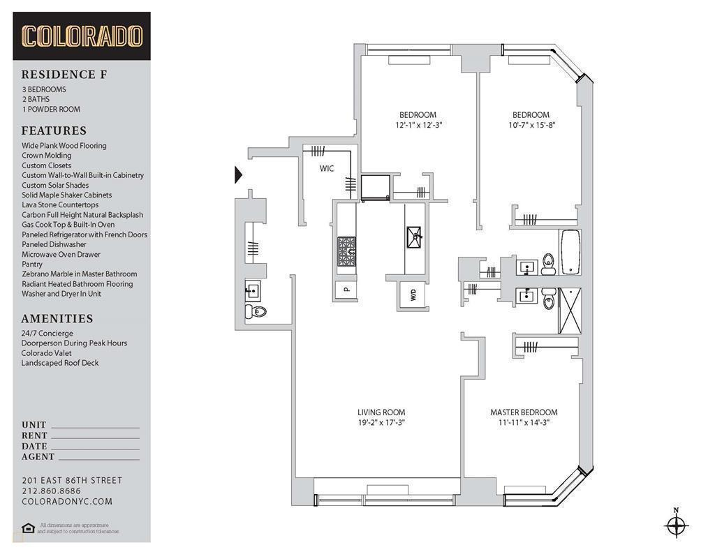 Floor plan for F263F
