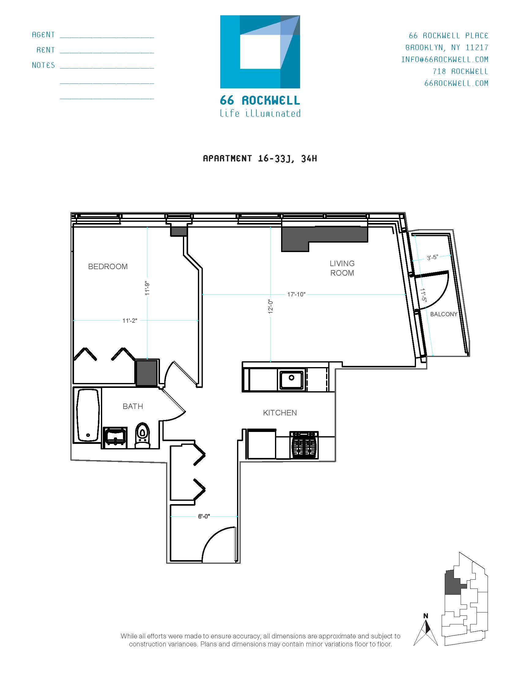 Floor plan for 24J