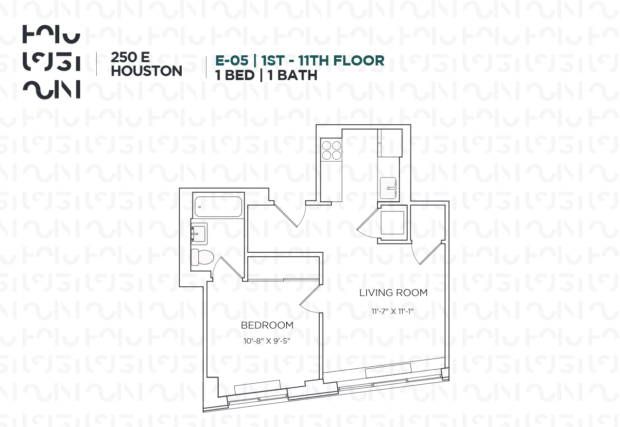 Floor plan for 4E
