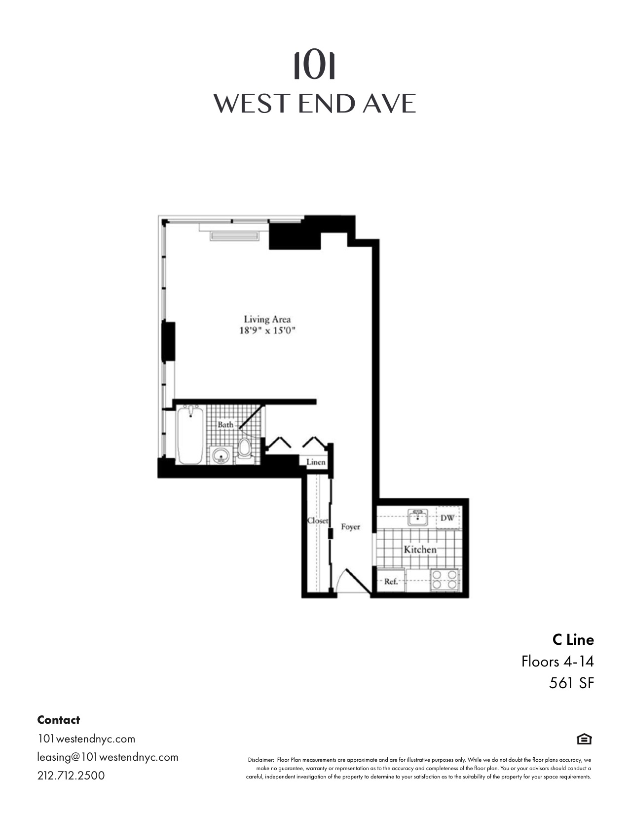 Floor plan for 8C