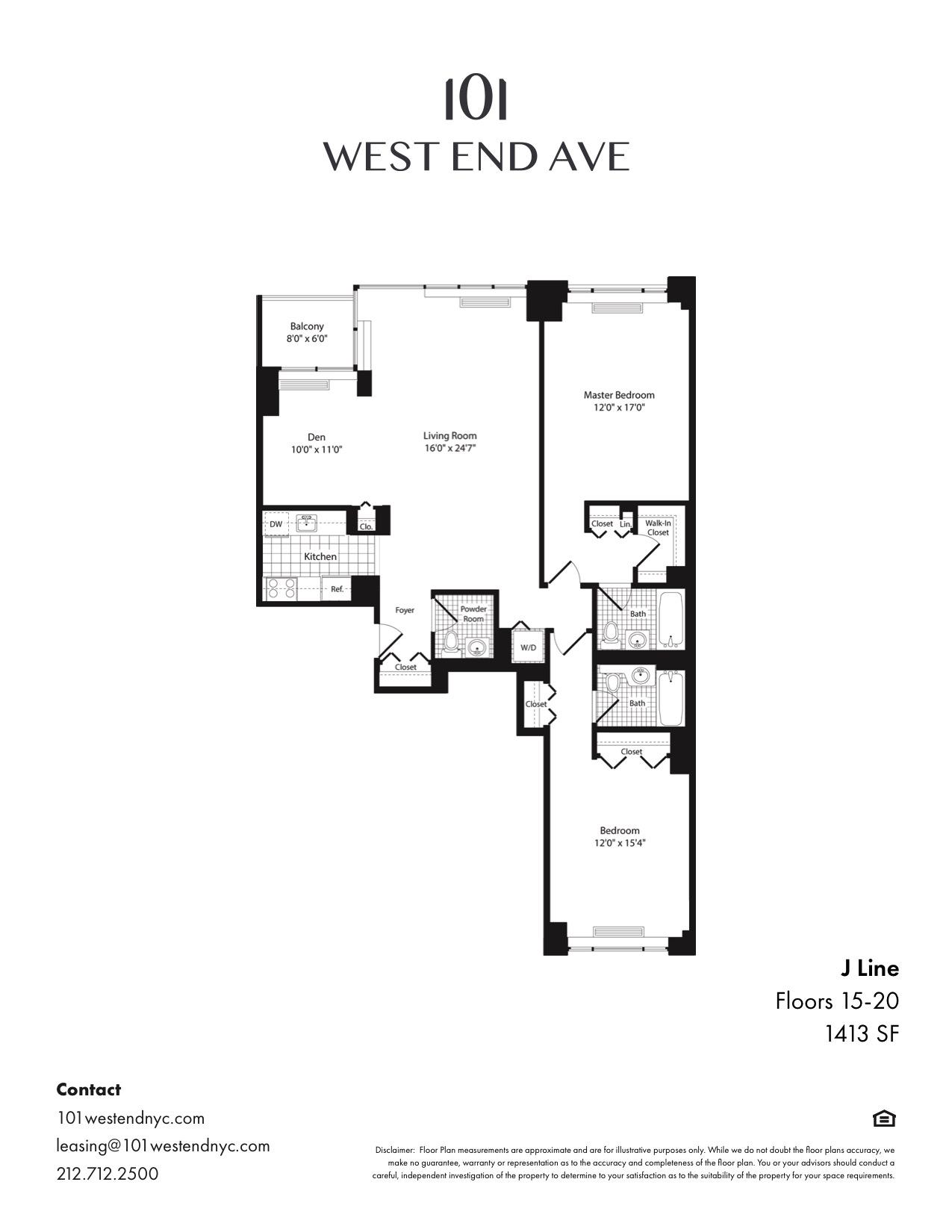 Floor plan for 19J