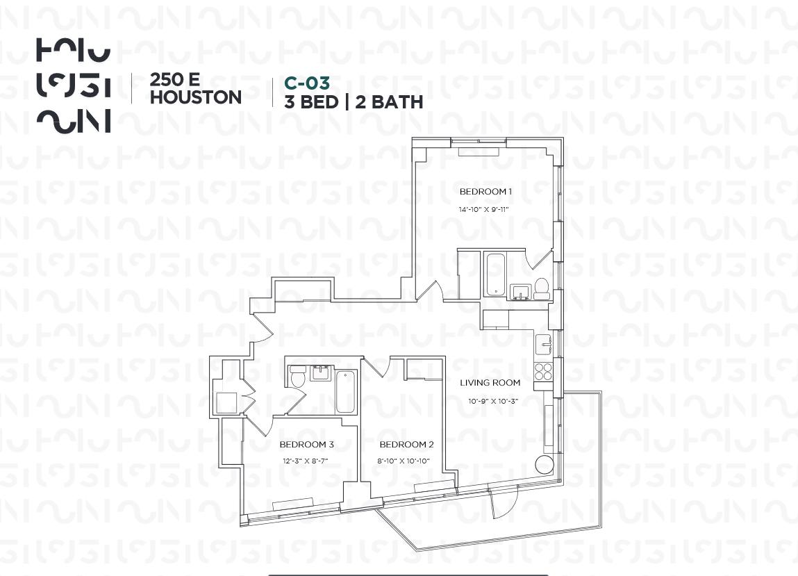 Floor plan for 9C