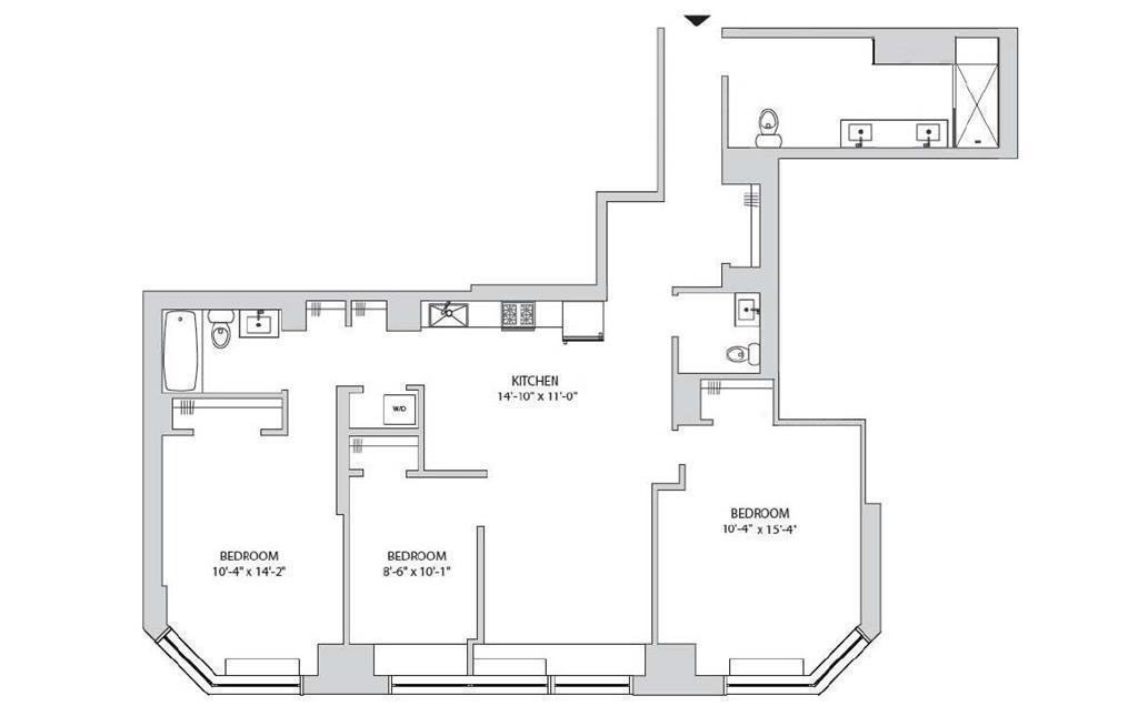Floor plan for 15-C
