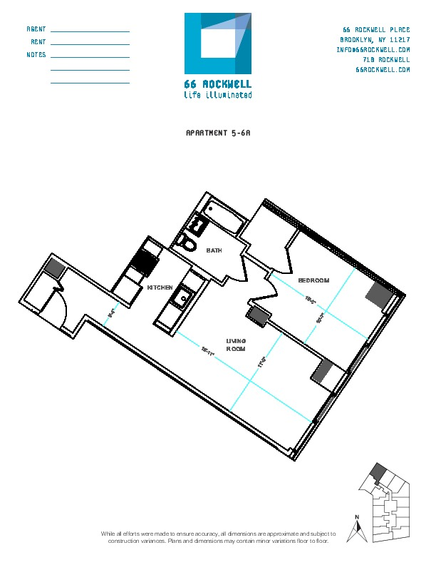 Floor plan for 5A