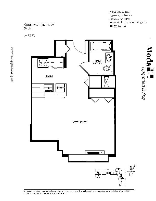Floor plan for 322