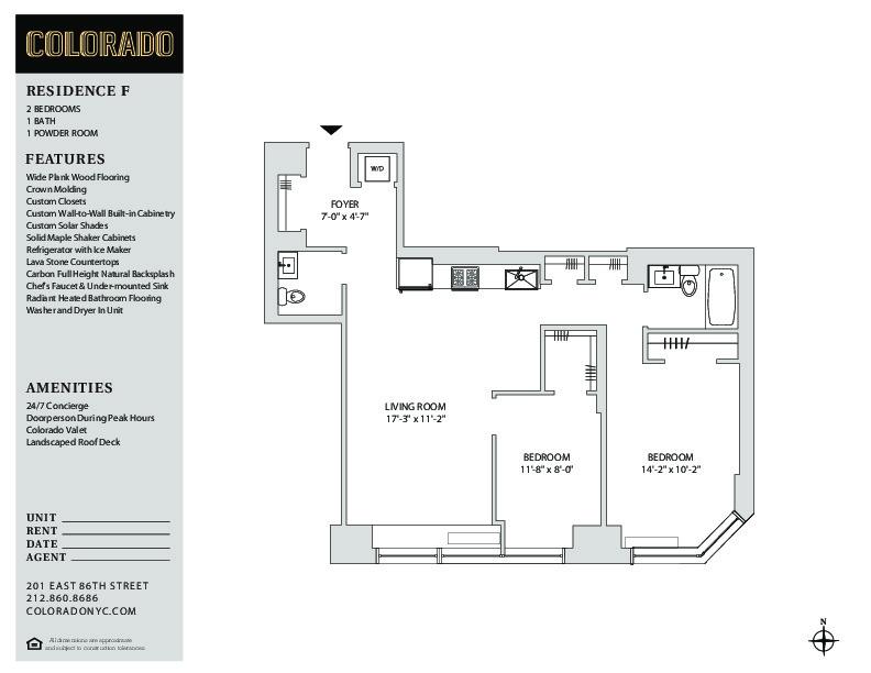 Floor plan for 6-F