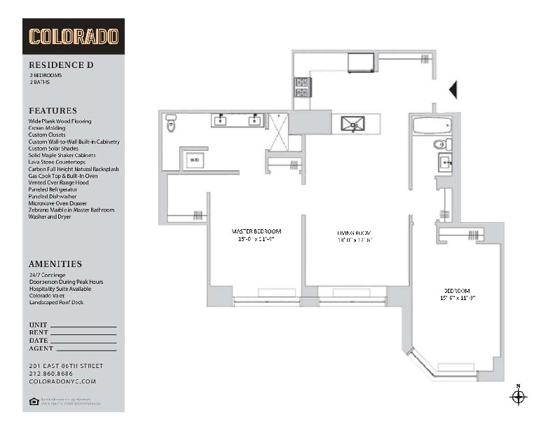 Floor plan for 17-D