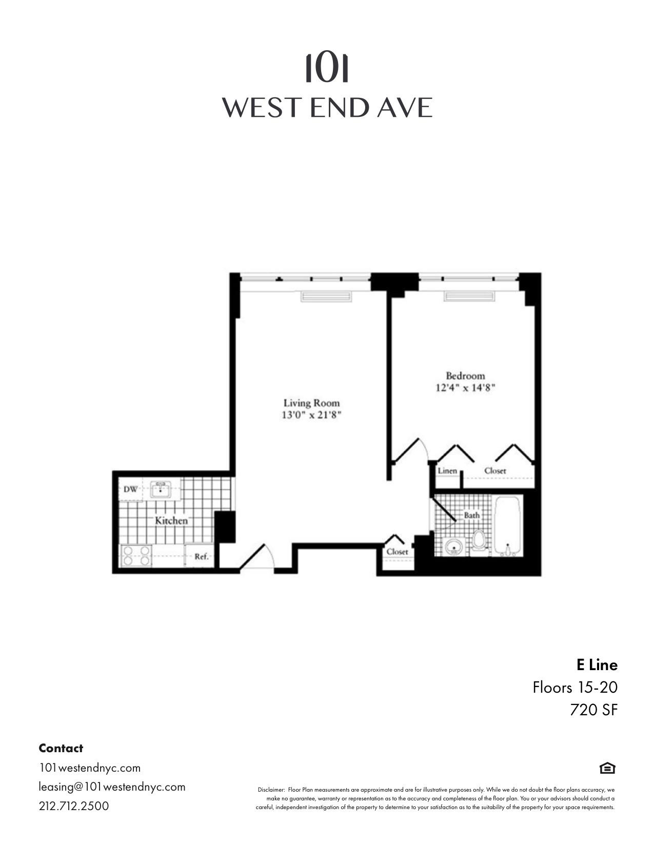 Floor plan for 20E