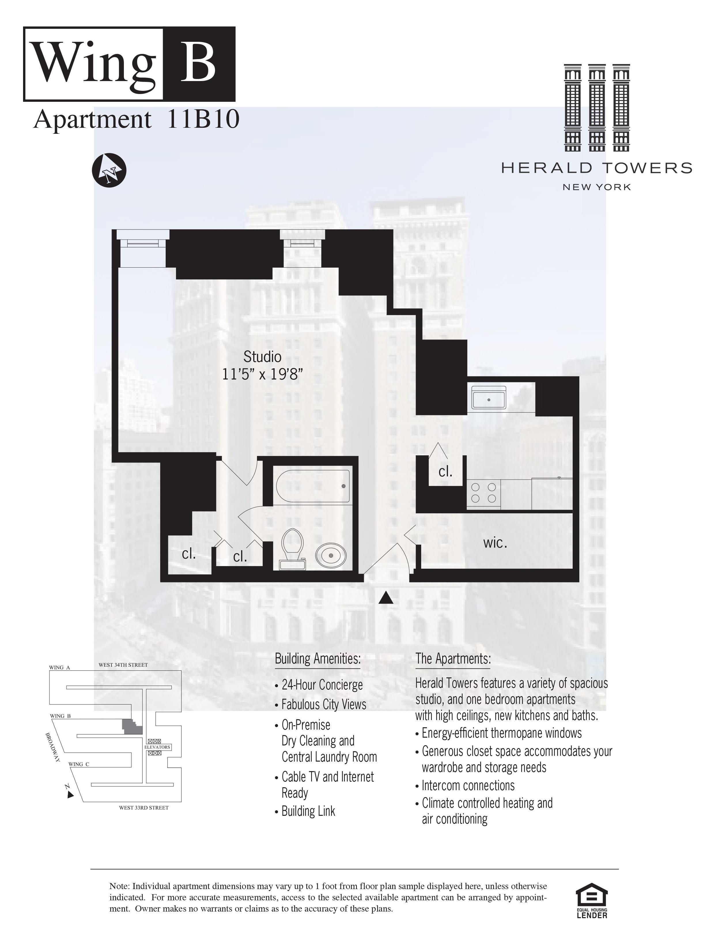 Floor plan for 11B10