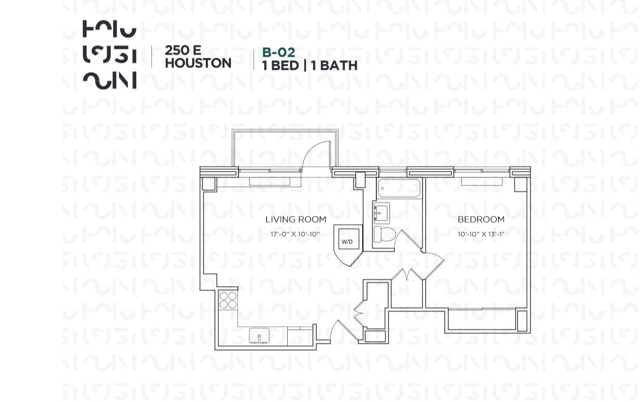 Floor plan for 4B